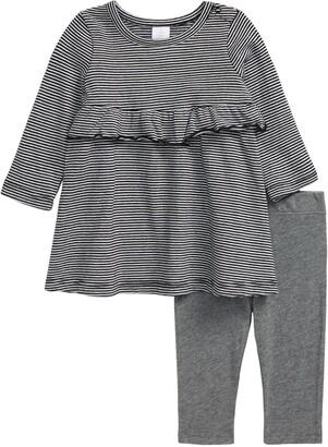 Nordstrom Long Sleeve Stripe Dress & Pants Set