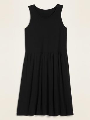 Old Navy Sleeveless Jersey Drop-Waist Swing Dress for Women