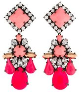Shourouk Neon & Crystal Chandelier Earrings