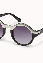 Forever 21 F3320 Metal-Trimmed Round Sunglasses