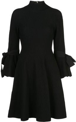 Carolina Herrera Tie-Detail Ribbed Dress