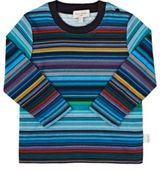 Paul Smith Men's Multicolored Striped Cotton T-Shirt-BLUE, NO COLOR