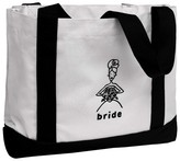 Hortense B. Hewitt Bride Canvas Wedding Gift Tote Bag - White/Black