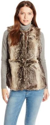 La Fiorentina Women's Faux Fur Vest