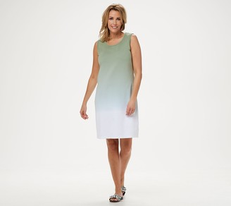 Denim & Co. Dip-Dye Sleeveless Scoop-Neck Dress