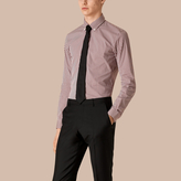 Burberry Slim Fit Button-down Gingham Stretch-cotton Shirt