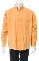 Burberry Point Collar Button-Up Shirt
