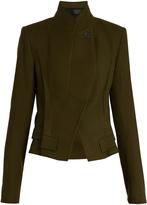Haider Ackermann Stand-collar wool-twill jacket