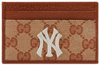 Gucci Original GG card case with NY Yankees patch