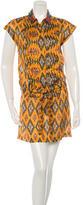 Dries Van Noten Patterned Silk Dress