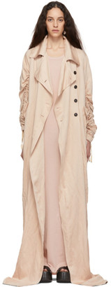 Ann Demeulemeester Pink Oversized Valery Trench Coat