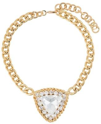 Alessandra Rich Heart Medallion Necklace