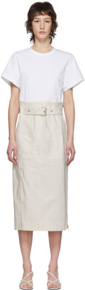 3.1 Phillip Lim White Belted Cargo T-Shirt Dress