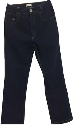 Henry Cotton Blue Spandex Trousers for Women Vintage
