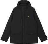 Lyle & Scott Micro Fleece-lined Hooded Coat, Black