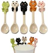 Buckdirect Worldwide Ltd. Cute Cartoon Animal Ceramic Hanging Coffee Scoop Milk Tea Soup Spoon Tableware Decor