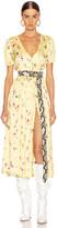 Cassandra Andamane ANDAMANE Midi Dress in Small Floral Yellow   FWRD