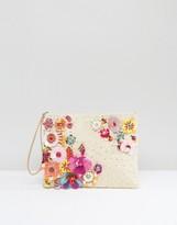 America & Beyond Festival Floral Embellishment Clutch Bag