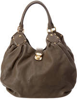 Louis Vuitton Grey Mahina Leather Large Hobo