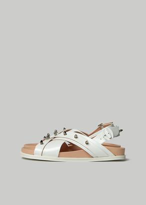 Simone Rocha Women's Studded Multi Strap Sandal in Ivory/Stud Size 37