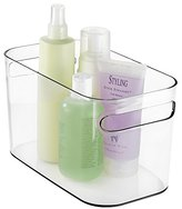 """mDesign Bathroom Vanity Organizer Bin for Heath and Beauty Products/Supplies, Lotion, Perfume - 10"""" x 6"""" x 6"""", Clear"""