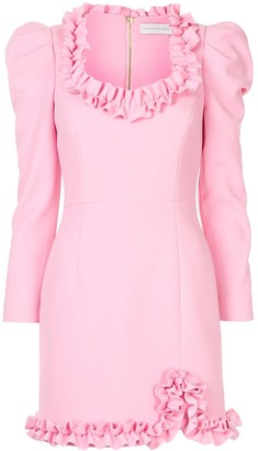 Rebecca Vallance Baci long-sleeve mini dress