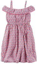 Carter's Toddler Girl Print Off-The-Shoulder Dress