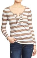 Old Navy Women's Long-Sleeve Ruffle Henleys