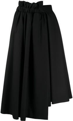 Comme des Garcons asymmetric A-line wool skirt