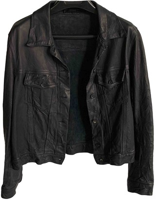 The Row Black Leather Leather Jacket for Women