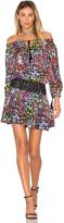 Aijek Ethel Printed Off Shoulder Mini Dress
