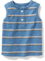 Old Navy Striped Henley Muscle Tank for Baby
