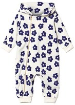 Mini Rodini Hooded Blossom Onesie