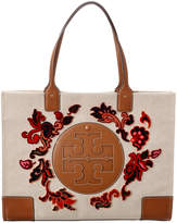 Tory Burch Ella Coupe Canvas & Leather Tote