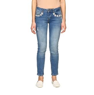 Liu Jo 5 Pocket Slim Fit Jeans With Applications