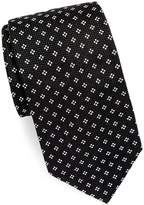 Brioni Men's Silk Tie With Mini Dot Detail