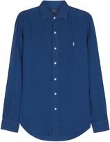 Polo Ralph Lauren Dark Blue Slim Linen Shirt
