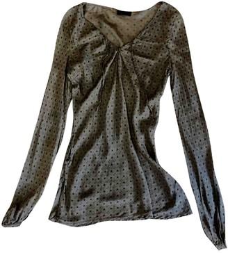 Ikks Brown Silk Top for Women