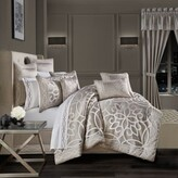 Thumbnail for your product : J Queen New York Deco 4-Piece Queen Comforter Set in Silver