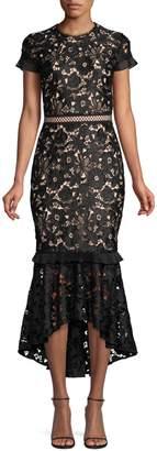 Shoshanna Senna Lace Mermaid Gown