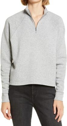 Treasure & Bond Zip Mock Neck Sweatshirt