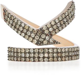 TULLIA Magic K 14K Rose Gold Diamond Initial Ring
