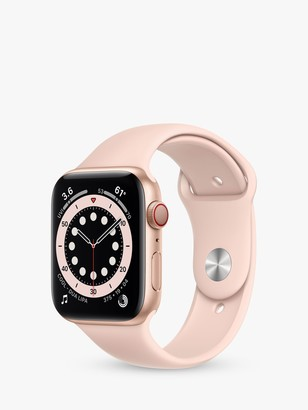 Apple Watch Series 6 GPS + Cellular, 44mm Gold Aluminium Case with Pink Sand Sport Band - Regular