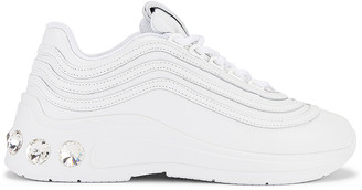 Miu Miu Jewel Athletic Sneakers in White | FWRD