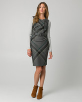 Le Château Check Print Viscose Blend Belted Shirtdress