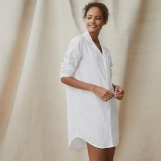 The White Company Cotton Classic Nightshirt, White, Medium