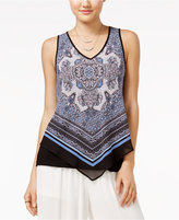 Amy Byer Juniors' Printed Scarf Top