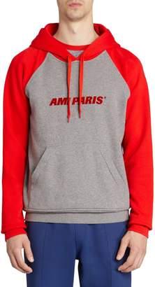 Ami Paris Logo Baseball Hooded Sweatshirt