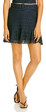 Aqua Belted Lace Skirt - 100% Exclusive