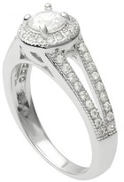 Journee Collection 1 2/5 CT. T.W. Round-cut Cubic Zirconia Bridal Basket Set Ring in Sterling Silver - Silver